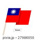 Taiwan Ribbon Waving Flag Isolated on White 27986050