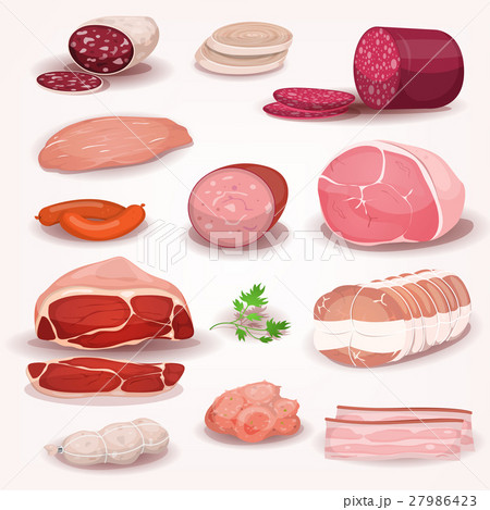 Delicatessen And Butchery Meat Set 27986423