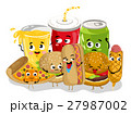 Funny fast food menu cartoon character 27987002