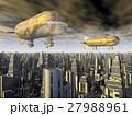 飛行船 ビル ビル群のイラスト 27988961