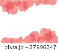 水彩風枠 赤 27996247