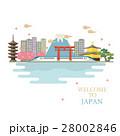 日本の町並みのイラスト 28002846
