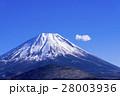 富士山 雪山 山の写真 28003936