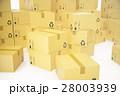 ダンボール 段ボール BOXのイラスト 28003939