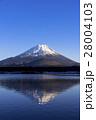 精進湖より厳冬期の逆さ富士 28004103