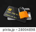 detailed black credit card isolated on black 28004898