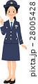 女性 人物 制服のイラスト 28005428