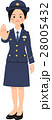 女性 人物 制服のイラスト 28005432
