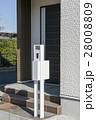 新築住宅の機能門柱 28008809