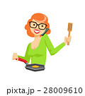 主婦 クッキング 料理のイラスト 28009610