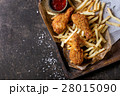 Fried chicken legs with french fries 28015090