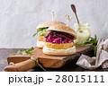 ハンバーガー バーガー ベジタリアンの写真 28015111