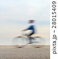 Bicyclist on a quay 28015409