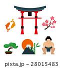 日本 トラベル アイコンのイラスト 28015483