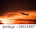 飛行機 朝焼け ジェット機の写真 28015667