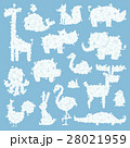 Animal clouds silhouette pattern vector 28021959