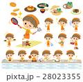 男の子 子供 料理のイラスト 28023355