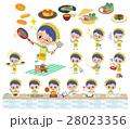 男の子 子供 料理のイラスト 28023356