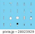 Vector icon set for painting tools 28023929