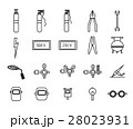 Vector icon set of welder equipment 28023931