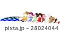 網漁の作業を手伝う動物たち 28024044