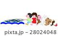 網漁を手伝う動物たち 28024048