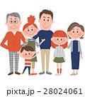家族 人物 三世代家族のイラスト 28024061