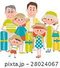 家族 人物 三世代のイラスト 28024067