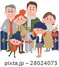 家族 人物 三世代家族のイラスト 28024073
