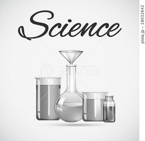Science beakers with chemical insideのイラスト素材 [28032642] - PIXTA