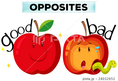 Opposite wordcard with good and bad 28032652