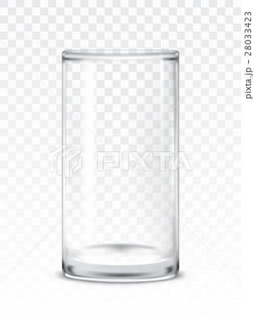 illustration of empty glass cupのイラスト素材 [28033423] - PIXTA