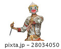 Hanuman mask in Thai classical style of Ramayana 28034050