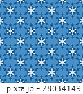 Seamless pattern with snowflakes on blue 28034149