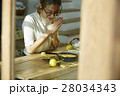 女性 朝食 昼食の写真 28034343