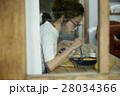 女性 朝食 昼食の写真 28034366