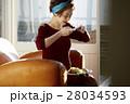 女性 昼食 料理の写真 28034593