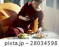 女性 昼食 料理の写真 28034598