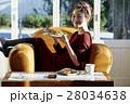 女性 朝食 昼食の写真 28034638