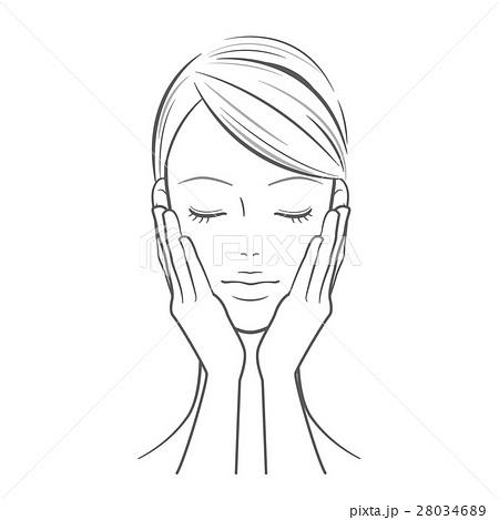 女性_両手を顔に当てた女性 28034689