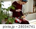 女性 昼食 料理の写真 28034741