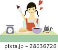 バレンタイン チョコ 女性のイラスト 28036726