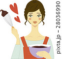 手作りチョコレートを作る女性 28036990