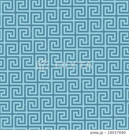Classic meander seamless pattern.のイラスト素材 [28037690] - PIXTA