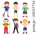 スポーツ セット スポーツ選手のイラスト 28037734
