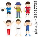 スポーツ セット スポーツ選手のイラスト 28037735