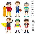 スポーツ セット スポーツ選手のイラスト 28037737