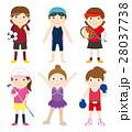 スポーツ セット スポーツ選手のイラスト 28037738