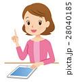 タブレット端末 女性 説明のイラスト 28040185