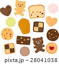 焼き菓子のイラストセット 28041038